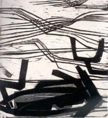 Farvel. Gabriela Mistral, Træsnit 1954